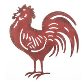 Red Rooster Metal Wall Decor